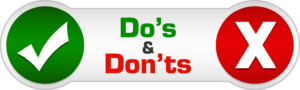Do's and Don'ts during mortgage process