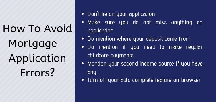 How To Avoid Mortgage Application Errors_